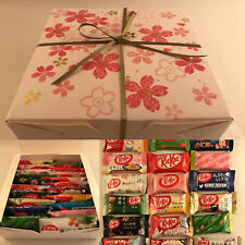 20pc Japanese KitKat Set with Sakura Gift Box - 20flavors Kit Kat Cherry Blossom
