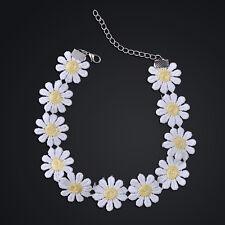Sweet White Lolita Lace Choker Cute Daisy Flower Yellow Collar Necklace Jewelry