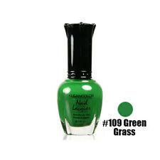 1 Kleancolor Nail Polish Lacquer #109 Green Grass Manicure - Free Shipping