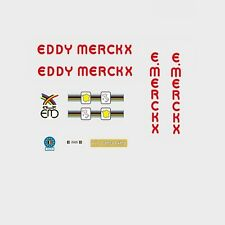 Eddy Merckx Corsa extra rouge bicyclette decals-transfers-autocollants #16