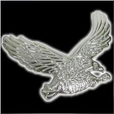 CAR MOTORCYCLE EAGLE SHAPE SIDE TRUNK EMBLEM BADGE SILVER # 3
