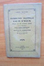 LYCEE BUFFON DISTRIBUTION SOLENNELLE DES PRIX FAITE LE 13 JUILLET 1929
