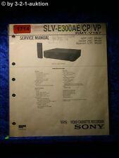 Sony Service Manual SLV E300AE / CP /VP Video Recorder (#1714)