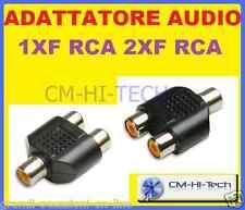 ADATTATORE AUDIO 1XF RCA 2XF RCA PER CAVO MIXER MICROFONO CONSOLE DJ COMPUTER PC