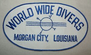 Vintage World Wide Divers Company Morgan City Louisiana Coverall Patch