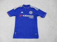 Adidas Chelsea Soccer Jersey Womens Extra Small Blue White Futbol Ladies *