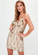 nude embellished strappy mini dress Metallic uk 12