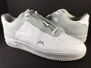 Nike Air Force 1 ACW A Cold Wall White Black Grey Mens Size 15 Rare BQ6924-100