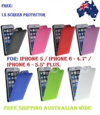 "FLIP LEATHER CASE COVER APPLE IPHONE 5 5G / IPHONE 6 - 4.7"" / IPHONE 6 PLUS 5.5"""
