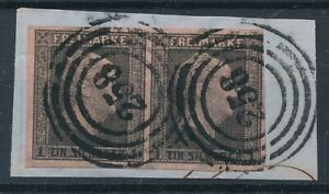 [30893] Germany Prussia Good classical pair on piece paper VF Nice cancels