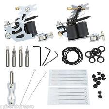 Mini Tattoo Kit Liner Machine Gun Needle Grips Tools Accessories