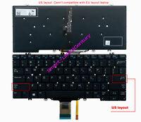 Dell Latitude 5280 5289 5290 7280 7290 7380 7390 v160325BS1 US Keyboard Backlit