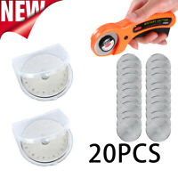 Quality 20pcs Rotary Cutter Blades Quilters Sewing Patchwork Fabric Spare 45mm