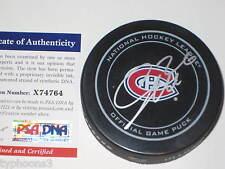 JIRI SEKAC signed Montreal Canadiens GAME Puck w/ PSA COA