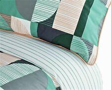 Top Quality Sainsbury's Retro Geo King Size Bedding Set Duvet Cover Green Orange