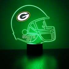 Greenbay Packers NFL Football Personalized FREE Night Light 3D Illusion LED