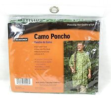 Camo Vinyl Poncho Adult One Size Fits Most