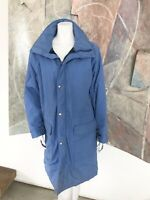 Vintage L.L. Bean Womens Pale Periwinkle Blue LL Wool Lined Coat Jacket Large