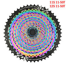 RACEWORK 11-50T MTB Bicycle Cassette Bike Flywheel Rainbow 11/12 Speed