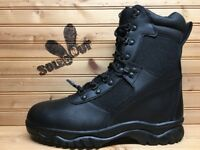 "New Rothco Forced Entry 8"" Side Zip Tactical Boots sz 8.5 Black Leather 5053 SC"