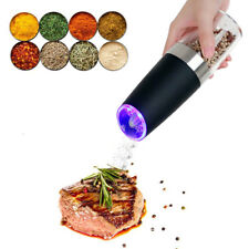 Electric Salt Pepper Mill Grinder Indoor Kitchen Grinding Home Stainless Steel