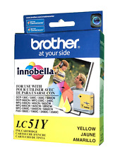 NEW Brother innobella LC51Y YELLOW Color Ink Cartridge - Genuine Brother