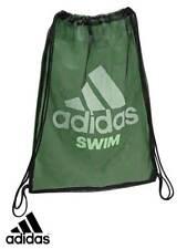 ADIDAS SWIMMING SWIM MESH KIT TRAINING GYM SACK BAG MENS WOMENS KIDS NEW GREEN