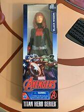 "12"" Marvel Avengers Titan Hero Series Black Widow Figure 2015 New In Box"