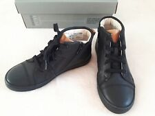 Brand New Clarks Boys School Black Leather Shoes/Boots, Size 2G (34) City Oasis