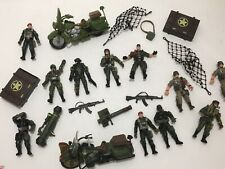 Chap Mei Lot Army Military Men Action Figures Accessories Motorcycles Guns Toys