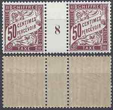 TIMBRE TIMBRE TAXE N°37 MILLÉSIME 8 NEUF ** LUXE GOMME D'ORIGINE MNH COTE 11€