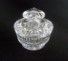 Fine Vintage Cut Glass Powder Bowl / Jam Pot with Lid in Heavy Cut Lead Crystal