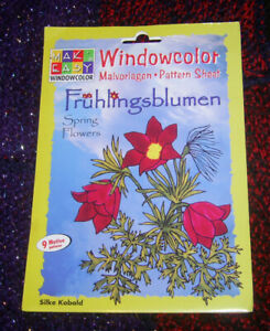 """Window Color"" Malvorlagen- Pattern Sheet Frühlingsblumen"