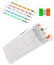 20pcs Nail Art Design Gel Painting Dotting Pen & Brush Set Manicure