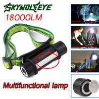 18000 Lumen CREE  XML T6 Headlamp LED Flashlight  Head Torch Work Light Lamp USA