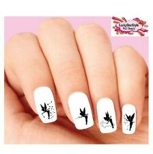 Waterslide Nail Decals Set of 20 - Tinkerbell Fairy Dust Silhouette Assorted