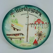 Vintage Hersheypark Souvenir Decorative Plate Hershey Park, PA Unique & Colorful