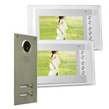 Zweifamilienhaus Farb Video Türgegensprechanlage 7 Zoll LED Nachtsicht Cam 110°