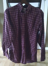 BROOKS BROTHERS Men's Medium Red Striped Long Sleeve Button Down Shirt