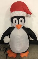 Rare Vintage Gemmy Penguin with Snowball Inflatable 4 Ft
