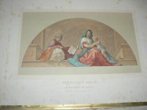 Vintage Print Litho Andrea Del Sarto Guillaumin & Co Paris Madonna Del Sacco