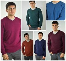JASPER CONRAN Warm Winter Mens Lambswool V Neck Jumper in 6 colours RRP £40