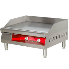 "24"" Stainless Steel Electric Restaurant Countertop Flat Top Griddle"