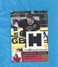 WAYNE GRETZKY 2002-03 UD FOUNDATIONS CANADIAN HEROES GAME USED JERSEY ! !
