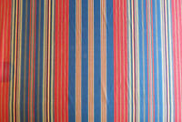 Americana Blue, Red, Tan Stripe Fabric BY THE YARD P/Kaufman Cotton Woven