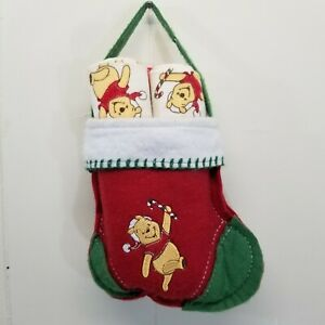 Pooh Stocking Flannel Receiving Blanket Set Christmas Holiday Baby Gift Set of 3