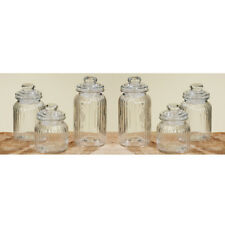6 Stk. Vorratsglas Bonbonglas Nostalgie Glas Behälter Vorratsdose Bonbongläser
