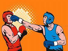 PITTURA sport amatoriale Boxe Punch distaffatura GUANTO poster stampa bmp10481