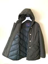 Women's WOOLRICH Arctic Down Parka Racoon Hooded SZ S Jacket Coat Khaki Green