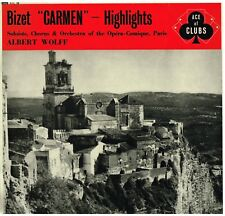 Bizet: Carmen Selezione / Albert Wolff, Juyol, Micheau, De Luca, Giovanetti - LP